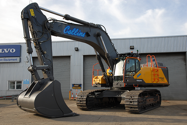 Collins Earthworks Lands The First Volvo Ec750e In Great