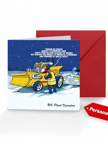 Santa Speeding Christmas Card