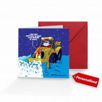Rudolf Digger Christmas Card