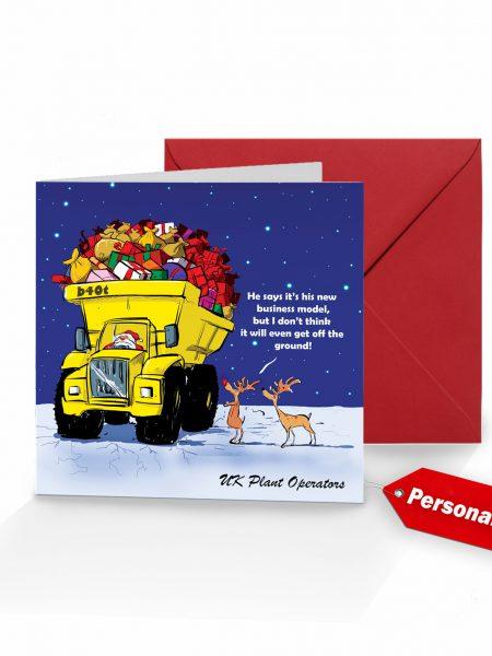 Christmas Card Santa Dumptruck